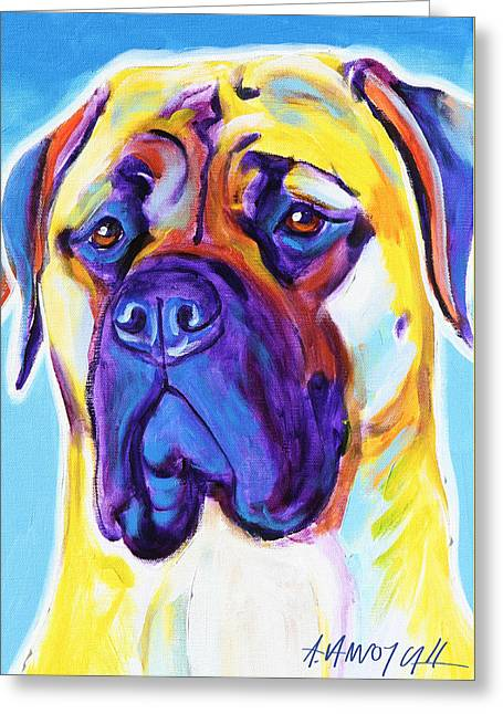 Mastiff - Mustang Sally Greeting Card by Alicia VanNoy Call