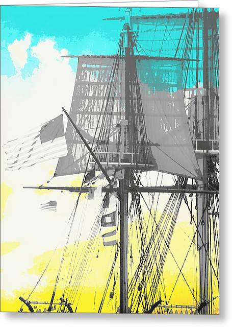 Masts And Sails 2 Greeting Card by Brandi Fitzgerald