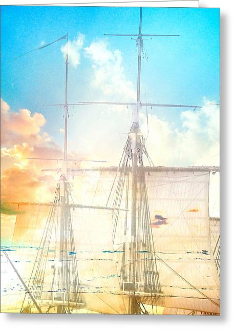 Masts And Sails 3 Greeting Card by Brandi Fitzgerald