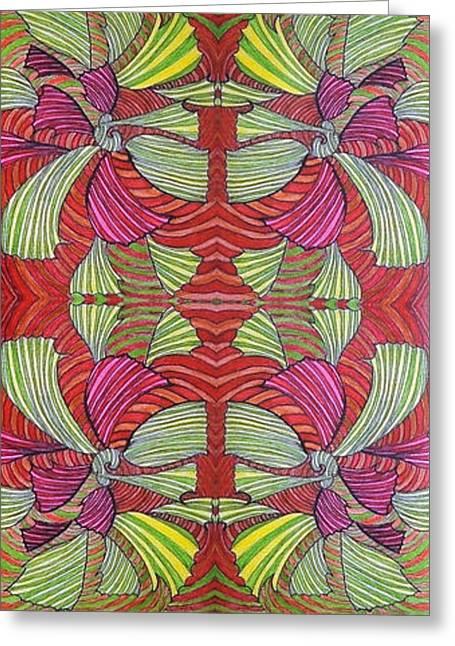 Mat-link Wallpaper Design Greeting Card by Rahel TaklePeirce