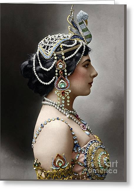 Greeting Card featuring the photograph Mata Hari by Granger