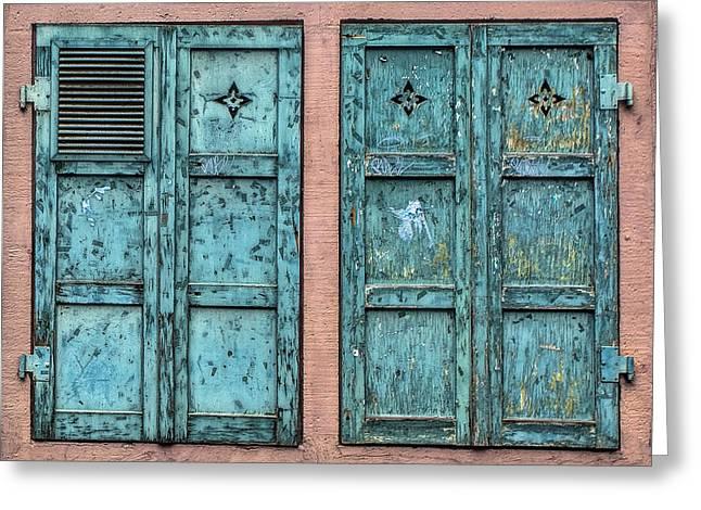 Mata Hari Windows Greeting Card by Marcia Colelli