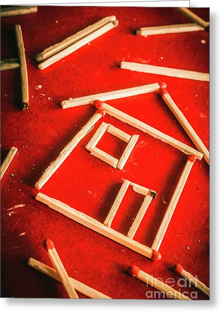 Matchstick Houses Greeting Card by Jorgo Photography - Wall Art Gallery