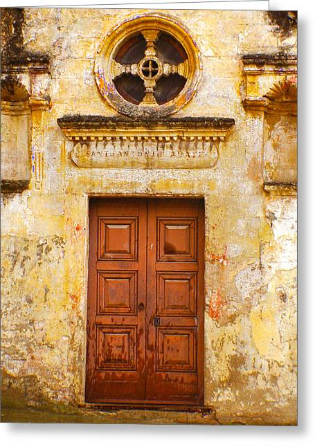 Matera Church Door Greeting Card
