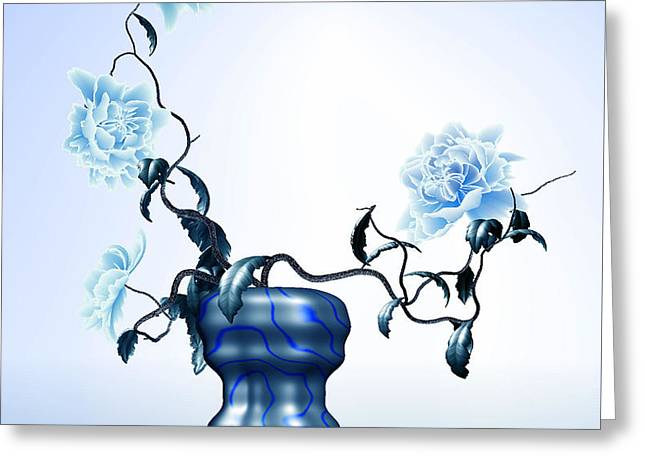 Math Flowers In Blue 1 Greeting Card