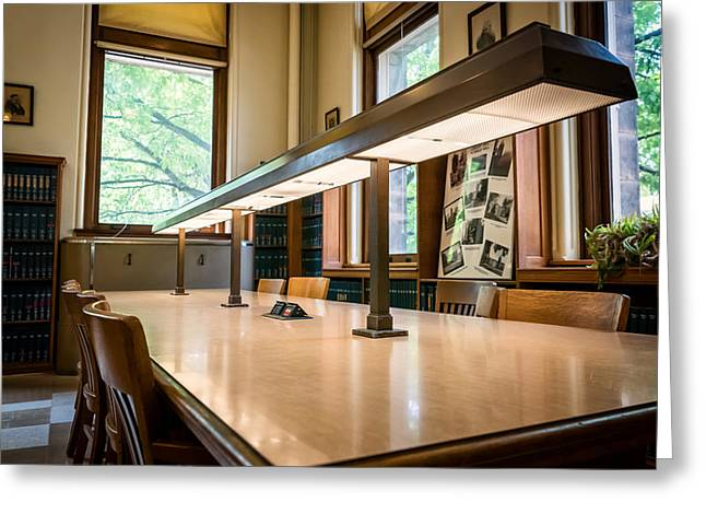 Altgeld Hall Greeting Cards - Mathematics Library - UI0057 Greeting Card by Michael Buras