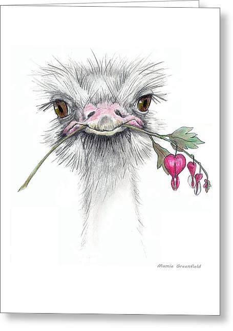 Matilda The Ostrich Greeting Card