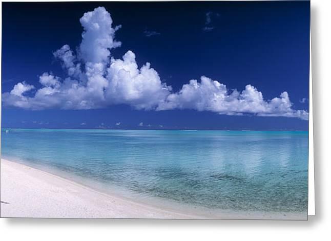 Matira Beach Bora Bora Polynesia Greeting Card