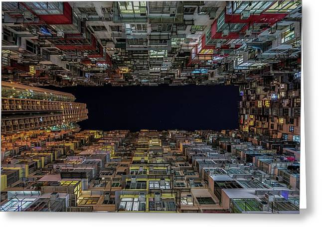 Urban Architecture, Hong Kong Greeting Card by Urbanexpl0rer