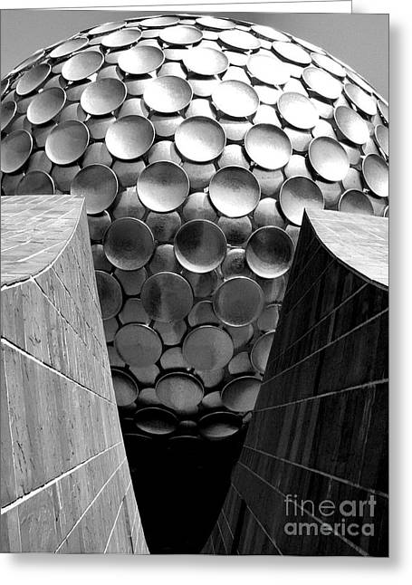 Matrimandir View - Auroville Greeting Card by Steve Rudolph