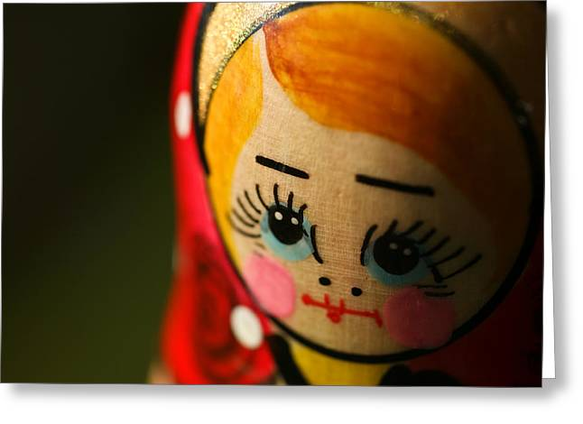 Matryoshka Doll Greeting Card by Edward Myers