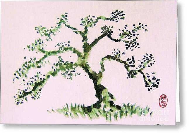 Greeting Card featuring the painting Matsushima Ume No Ki  by Roberto Prusso