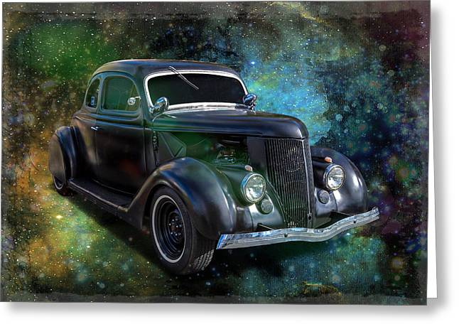 Matt Black Coupe Greeting Card