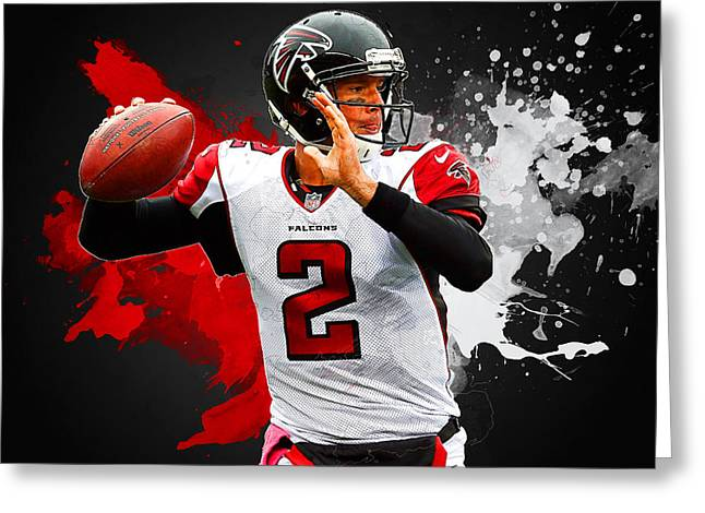 Matt Ryan Greeting Card by Semih Yurdabak