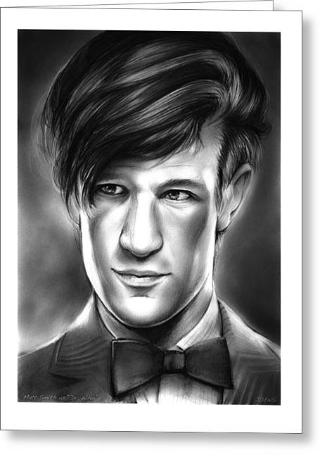 Matt Smith Greeting Card by Greg Joens