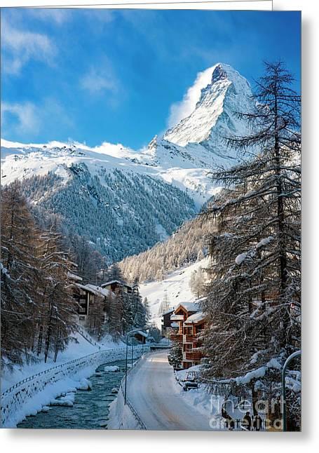 Greeting Card featuring the photograph Matterhorn  by Brian Jannsen