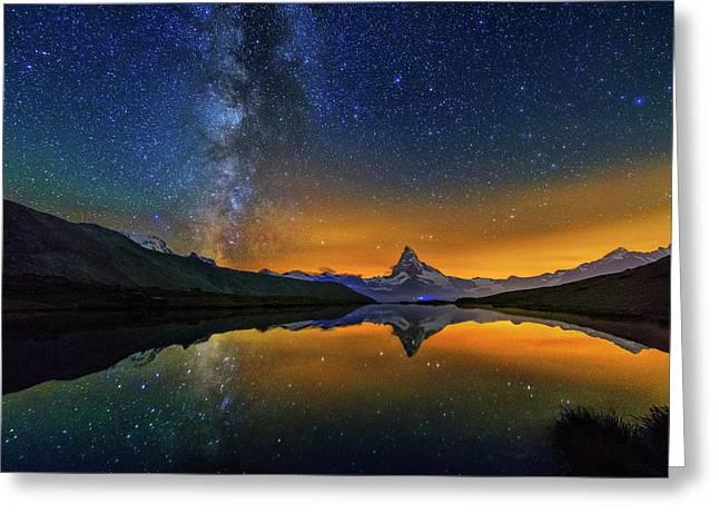 Matterhorn By Night Greeting Card