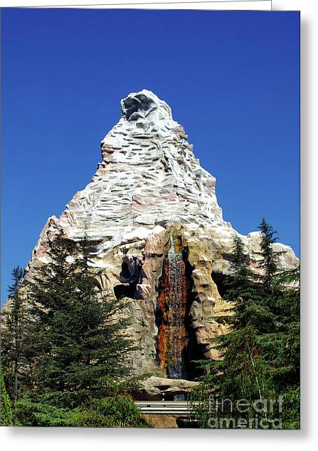 Matterhorn Disneyland Greeting Card by Mariola Bitner