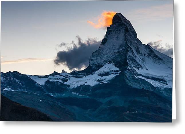 Matterhorn Lights Greeting Card by Konstantin Dikovsky