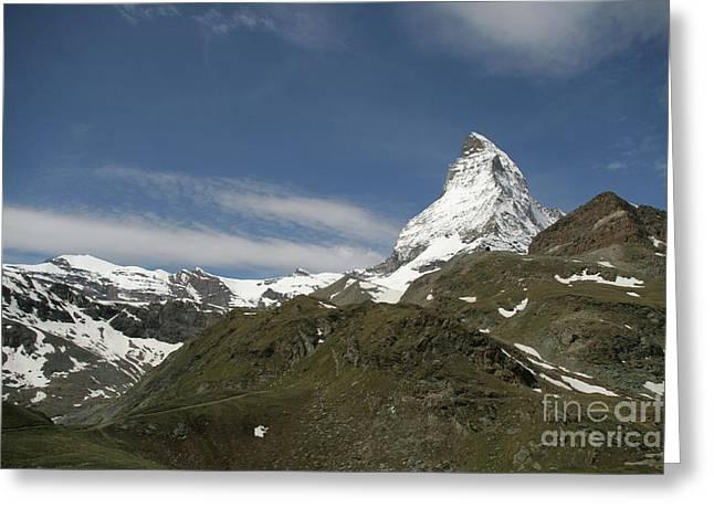 Matterhorn With Alpine Landscape Greeting Card