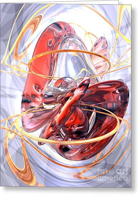 Matters Of The Heart Abstract Greeting Card by Alexander Butler