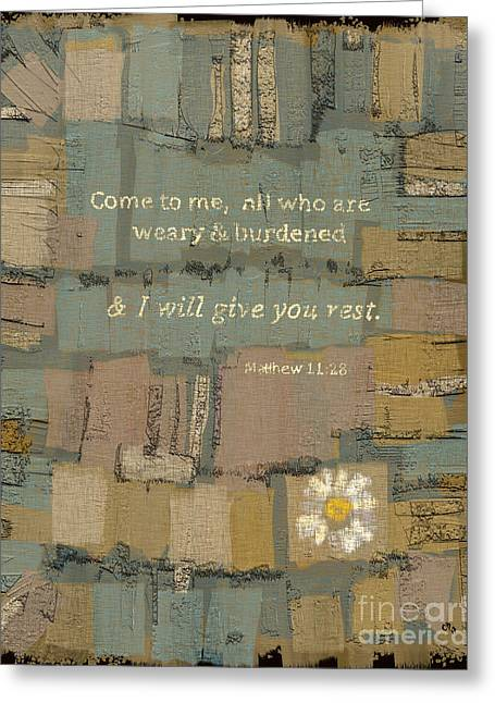 Matthew Bible Verse Greeting Card