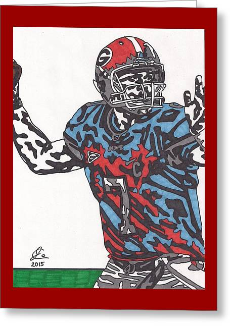 Matthew Stafford Cossover Greeting Card by Jeremiah Colley