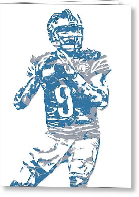 Matthew Stafford Detroit Lions Pixel Art 5 Greeting Card