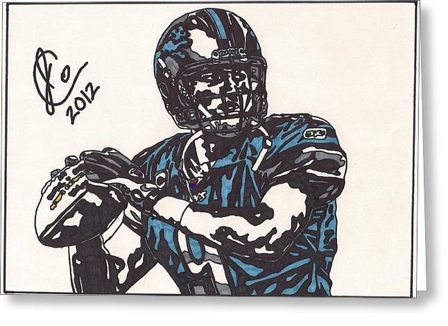 Matthew Stafford Greeting Card by Jeremiah Colley