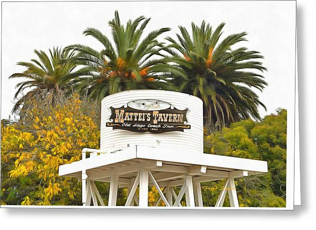 Greeting Card featuring the photograph Matties Tavern Los Olivos California by Floyd Snyder