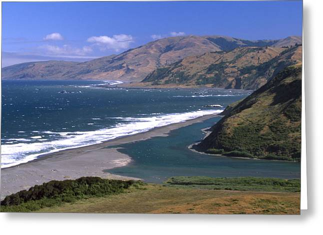 Mattole River Mouth - Mattole Beach Greeting Card by Soli Deo Gloria Wilderness And Wildlife Photography