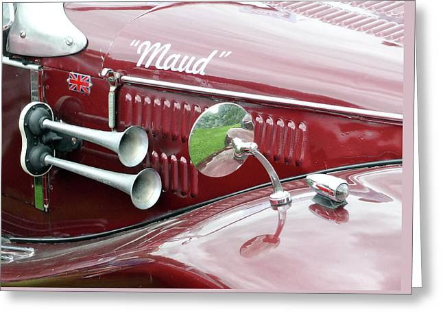 Maud - Vintage Car Greeting Card by Philip Openshaw