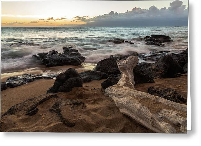 Maui Beach Sunset Greeting Card