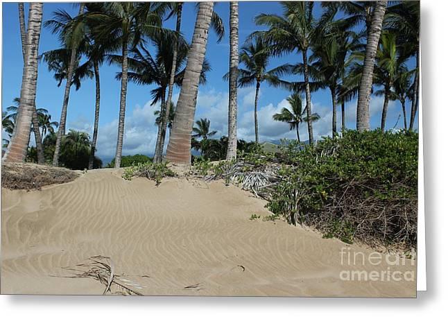 Greeting Card featuring the photograph Maui Beach by Wilko Van de Kamp