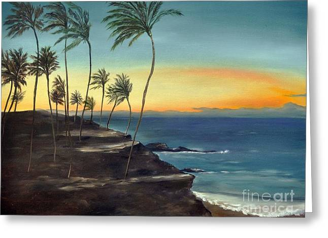 Greeting Card featuring the painting Maui by Carol Sweetwood