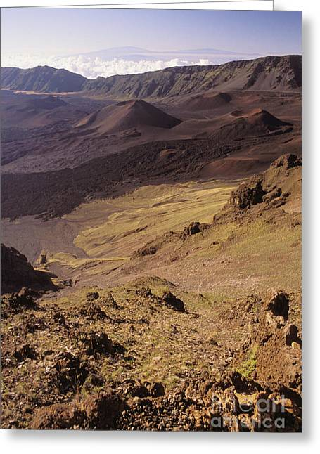 Maui, Haleakala Crater Greeting Card by Mary Van de Ven - Printscapes