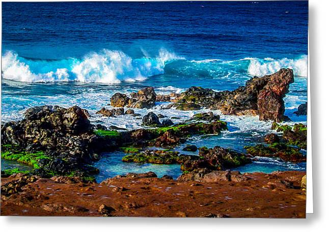 Maui Hawaii Breaking Surf  Greeting Card