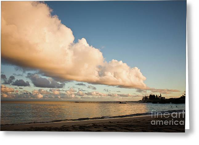 Maui Hawaii Sunset Stunning Clouds Greeting Card by Denis Dore