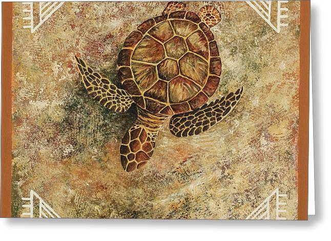 Greeting Card featuring the painting Maui Honu by Darice Machel McGuire