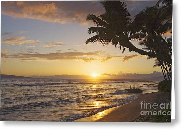 Maui, Kaanapali Beach Greeting Card by Greg Vaughn - Printscapes