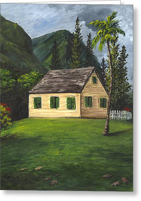 Greeting Card featuring the painting Maui Nature Center by Darice Machel McGuire