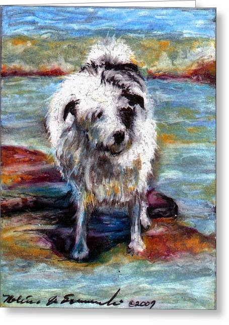 Maui On The Beach Greeting Card by Melissa J Szymanski