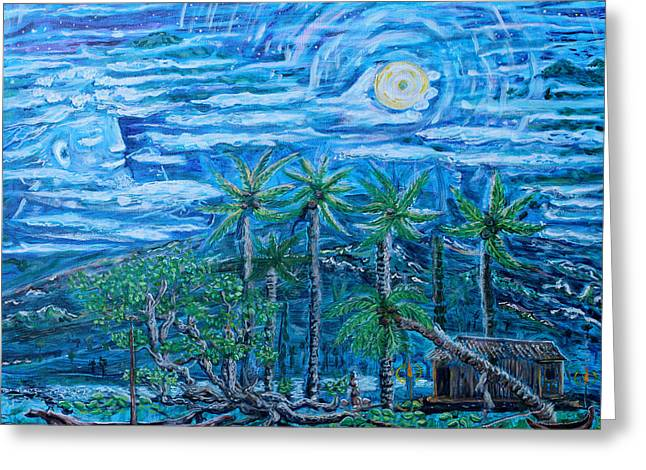 Maui Pearl Moon Greeting Card