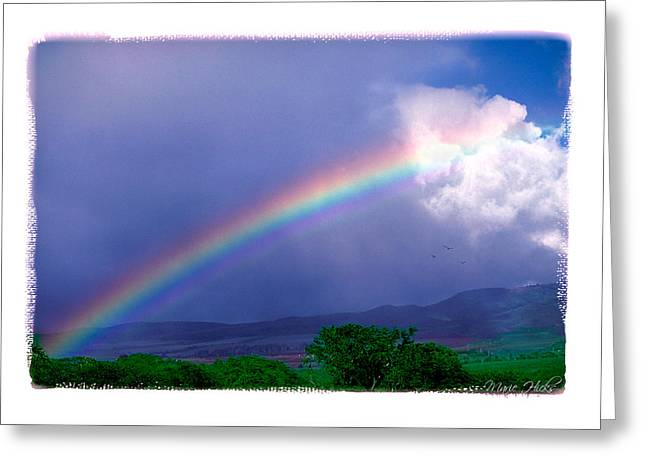 Greeting Card featuring the photograph Maui Rainbow by Marie Hicks
