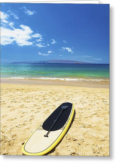 Maui Stund Up Paddle Board Greeting Card