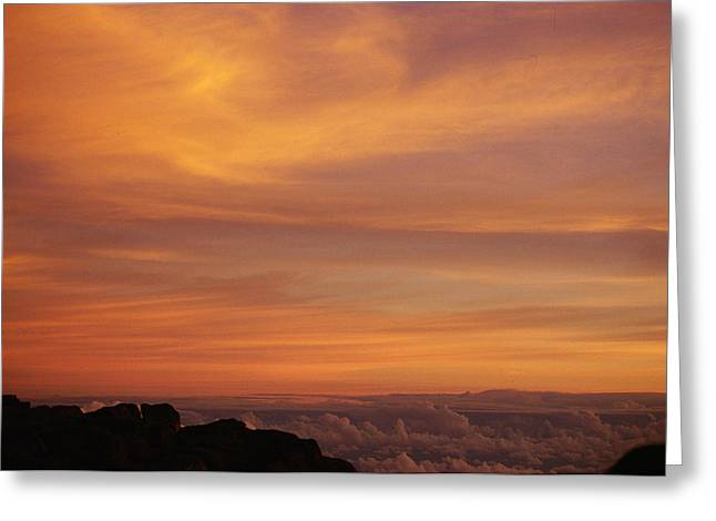 Maui Sunrise Greeting Card by Gary Cloud