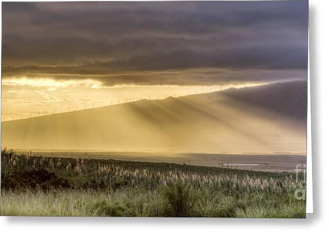 Maui Sunset God Rays Greeting Card by Dustin K Ryan