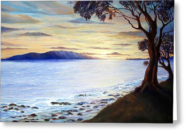 Maui Sunset Greeting Card by Mike Segura