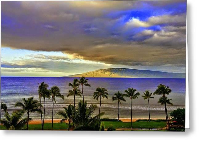 Maui Sunset At Hyatt Residence Club Greeting Card