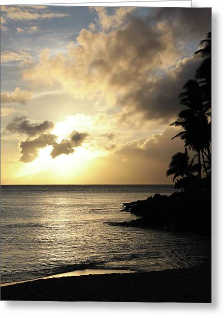 Maui Sunset Vertical Greeting Card